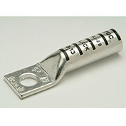 "Penn-Union BBLU040S, Copper Compress. Lug, Long Barrel 1 Hole, 400kcmil, 1/2"" Stud, Blue - Pkg Qty 10"