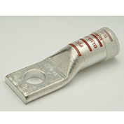 "Penn-Union BLUA4/0S, Alum Compress. Lug Std Barrel 1 Hole, 4/0 AWG, 1/2"" Stud, White - Pkg Qty 10"