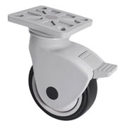 "WMI® NSF Certified Sanitary Caster PNSB-03 - Swivel Plate Mount with Brake - 3"" Dia. - 154 Lbs."