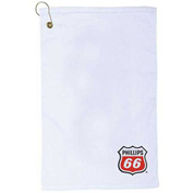 Jewel Collection Customized Golf Towel, Embroidered, White