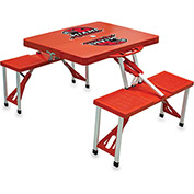 Picnic Table - Red (Miami U Red Hawks) Digital Print - Logo