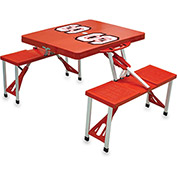 Picnic Table - Red (N. Carolina State Wolfpack) Digital Print - Logo