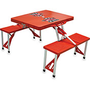 Picnic Table - Red (U Of Wisconsin Badgers) Digital Print - Logo