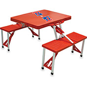 Picnic Table - Red (Louisiana Tech Bulldogs) Digital Print - Logo