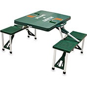 Picnic Table - Green (U Of Miami Hurricanes) Digital Print - Logo