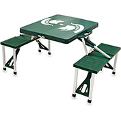 Picnic Table - Green (Michigan State Spartans) Digital Print - Logo