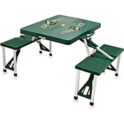 Picnic Table - Green (Cal Poly Mustangs) Digital Print - Logo
