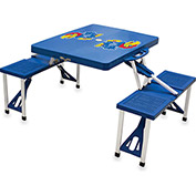 Picnic Table - Blue (U Of Kansas Jayhawks) Digital Print - Logo