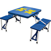 Picnic Table - Blue (U Of Michigan Wolverines) Digital Print - Logo