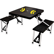 Picnic Table - Black (U Of Iowa Hawkeyes) Digital Print - Logo