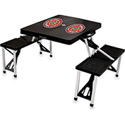 Picnic Table - Black (U Of Louisiana Ragin Cajuns) Digital Print - Logo