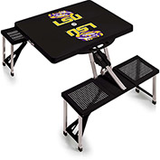 Picnic Table - Black (LSU Tigers) Digital Print - Logo