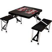 Picnic Table - Black (Mississippi State Bulldogs) Digital Print - Logo