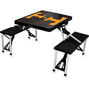 Picnic Table - Black (U Of Tennessee Volunteers) Digital Print - Logo