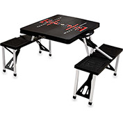 Picnic Table - Black (Texas Tech Red Raiders) Digital Print - Logo