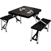 Picnic Table-Black (Virginia Commonwealth Univ. Rams) Digital Print - Logo