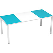 "Paperflow easyDesk 71"" Training Table - White and Teal"