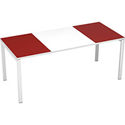 "Paperflow easyDesk 71"" Training Table - White and Maroon"