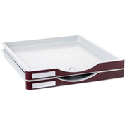 Archivo 2000 ArchivoDoc Small Size Drawers Gray/Burgundy 2 Pack