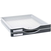 Archivo 2000 ArchivoDoc Small Size Drawers Gray/Graphite 2 Pack