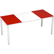 "Paperflow easyDesk 71"" Training Table - White and Red"