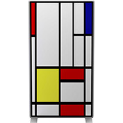 Paperflow EasyScreen Room Divider, Mondrian