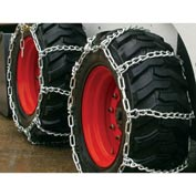 3400 Series Skid Loader Chains w/ HD Twist Cross Chains, 4 Link (Pair) - 0343555