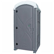 "PolyPortables Axxis Portable Restroom, Gray 47""L x 43""W x 92""H - PPAX-05"