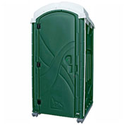 "PolyPortables Axxis Portable Restroom, Green 47""L x 43""W x 92""H - PPAX-06"