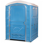 "PolyPortables Enhanced Access Portable Restroom, Blue 61""L x 61""W x 86-1/2""H - PPEAU-03"