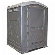 "PolyPortables Enhanced Access Portable Restroom, Gray 61""L x 61""W x 86-1/2""H - PPEAU-05"