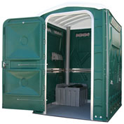 "PolyPortables Enhanced Access Portable Restroom, Green 61""L x 61""W x 86-1/2""H - PPEAU-06"