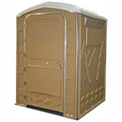 "PolyPortables Enhanced Access Portable Restroom, Tan 61""L x 61""W x 86-1/2""H - PPEAU-133"