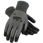 PIP G-Tek® CR Polyurethane Gray Grip Gloves W/ HPPE/Glass Liner, Black Palm/Fingers, XS, 1 DZ