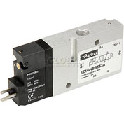 "Parker EZ1GNBB553, Inline Solenoid Operated Valve, 1/8"" port, 3 Way Single, 2-Position NC, Air Ret"