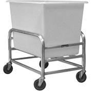 "Prairie View Bulk Mover with White Tub LUGCT1BK6-NBT - 6 Bushel, 23-1/4""L x 23-1/4""W x 36""H"