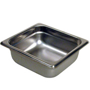 "Paragon 5062 - 1/6 Size Steam Table Pans, Anti-Jam, 24 Gauge, 2-1/2"" Deep"