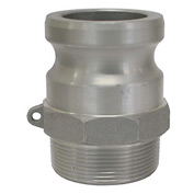 "1-1/2"" Aluminum Camlock Fitting - Male Coupler x MPT Thread"