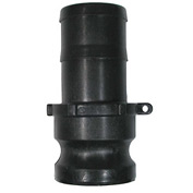"1-1/2"" Polypropylene Camlock Fitting - Male Barb x Male Coupler Thread"