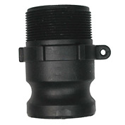 "1-1/4"" Polypropylene Camlock Fitting - Male Coupler x MPT Thread"