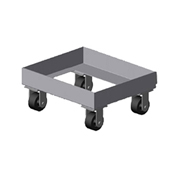 "Prairie View Chill1, Chill Tray Dollies, Single, 22-3/4""W x 10""H x 19""D, Aluminum"