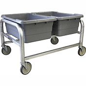 "PVI Aluminum Lug Cart LUGDB2 - 3 Lug Cap. All-Welded Side by Side 33""L x 24-1/2""W x 20""H, Gray"
