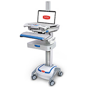 """Capsa Healthcare M38e Non-Powered Point of Care Mobile Laptop Cart with 3"""" Drawer"""