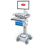 Capsa Healthcare M38e XP Non-Powered Point of Care Mobile LCD Cart with Six Locking Bins