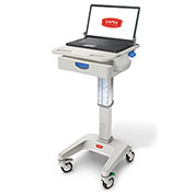 """Capsa Healthcare LX5 Non-Powered Laptop Cart, One 3"""" Drawer, 35 lbs. Weight Capacity"""