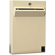 "Protex Low-Profile Wall Mount Depository Drop Box Tubular Lock LPD-161 - 11""Wx2-3/8""Dx16""H Beige"