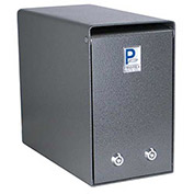 "Protex Undercounter Depository Drop Box SDB-106  with Dual Lock 12""W x 6""D x 10""H, Gray"