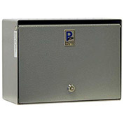 "Protex Wall Mounted Depository Drop Box SDB-250 with Tubular Lock - 5-1/2""W x 12""D x 9""H, Gray"