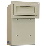 "Protex Through-The-Door Depository Drop Box WSS-159 - 4-1/4""W x 10""D x 15""H, Beige"