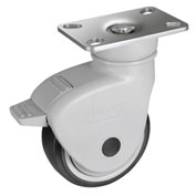 "WMI® NSF Certified Sanitary Caster PSNSB-03 - Stainless Steel Swivel with Brake - 3"" Dia."